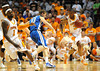 Nov 17, 2009; Knoxville, TN, USA; Tennessee Volunteers guard Bobby Maze (3) brings the ball up court against UNC Asheville Bulldogs guard D J Cunningham (33) during the first  half at Thompson-Boling Arena. The Volunteers beat the Bulldogs 124-49. Mandatory Credit: Don McPeak-US PRESSWIRE
