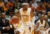 Nov 17, 2009; Knoxville, TN, USA; Tennessee Volunteers guard Scotty Hopson (32) drives against the UNC Asheville Bulldogs during the second half at Thompson-Boling Arena. The Volunteers beat the Bulldogs 124-49. Mandatory Credit: Don McPeak-US PRESSWIRE
