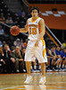Nov 17, 2009; Knoxville, TN, USA; Tennessee Volunteers guard Micjael Hubert (10) dribbles up court after scoring a field goal that broke a single game scoring record for the Volunteers against the UNC Asheville Bulldogs during the second half at Thompson-Boling Arena. The Volunteers beat the Bulldogs 124-49. Mandatory Credit: Don McPeak-US PRESSWIRE