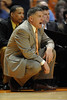 Nov 17, 2009; Knoxville, TN, USA; Tennessee Volunteers head coach Bruce Pearl instructs his team against the UNC Asheville Bulldogs during the first half at Thompson-Boling Arena. Mandatory Credit: Don McPeak-US PRESSWIRE
