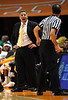 Dec 15, 2009; Knoxville, TN, USA; Tennessee Volunteers head coach questions a call in a game against the Wyoming Cowboys during the first half at Thompson Boling Arena. Mandatory Credit: Don McPeak-US PRESSWIRE