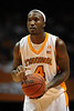 Dec 15, 2009; Knoxville, TN, USA; Tennessee Volunteers center Wayne Chism (4) prepares to shoot a foul shot against the Wyoming Cowboys during the first half at Thompson Boling Arena. The Volunteers beat the Cowboys 77-58. Mandatory Credit: Don McPeak-US PRESSWIRE
