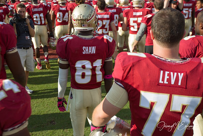 Kenny Shaw (81) Gets ready for a game against Boston College at Doak Campbell Stadium on October 13th 2012.