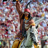 Chief Osceola Shows his pride at the Florida State vs. BYU football game held on September 18, 2010 at Doak Campbell Stadium.