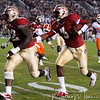 E.J. Manuel (3) runs the ball with Rodney Hudson (62) blocking for him at the FSU vs. Clemson Football Game held on Nov 13.