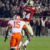 Rodney Smith (84) catches a pass at the FSU vs. Clemson Football Game held on Nov 13.
