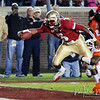 E.J. Manuel (3) stretches the ball over the goal line for a touchdown at the FSU vs. Clemson Football Game held on Nov 13.