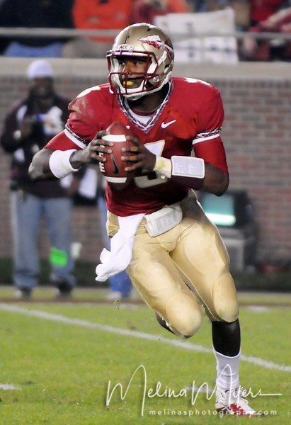 E.J. Manuel (3) looks to pass at the FSU vs. Clemson Football Game held on Nov 13.
