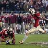 Dustin Hopkins (18) kicks the winning field goal at the FSU vs. Clemson Football Game held on Nov 13.