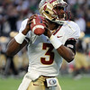 EJ Manuel (3) warms up before the start of the Champs Sports Bowl on Dec. 29th.