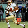 Rashad Greene (80) runs the ball during the Champs Sports Bowl on Dec. 29th.
