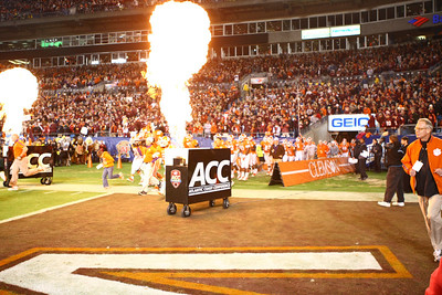 At the ACC Championship Game with Virginia Tech  and Clemson