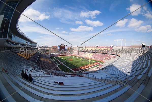A cool but sunny day at TCF Bank Stadium prior to the game on October 27, 2012:  at the Minnesota Gophers game versus Purdue Boilermakers at TCF Bank Stadium in Minneapolis, MN.