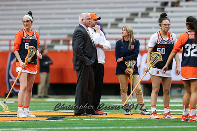 Head Coach Gary Gait, Associate Head Coach Regy Thorpe, Assistant Coach Caitlin Defliese