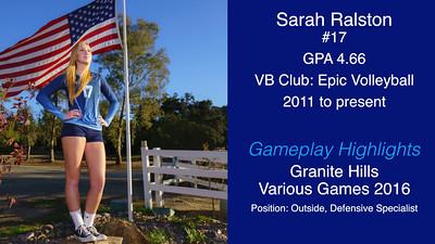 Sarah Highlights 2016