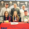 Star Photo/Bryce Phillips <br /> In front of family and friends, Elizabethton's Lauren Brickey inked her name with Walters State Community College where she will play softball.