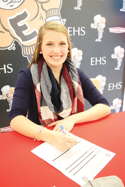 Star Photo/Bryce Phillips <br /> Elizabethton senior Lauren Brickey signed with Walters State Community College where she will play softball for the Lady Senators.