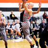 Don Knight | The Herald Bulletin<br /> Anderson University's Trevor Lucas drives for a layup as the Ravens  hosted Mount St. Joseph on Wednesday.