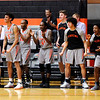 Don Knight | The Herald Bulletin<br /> The Ravens bench reacts to a play as Anderson University hosted Franklin College on Wednesday.