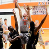 Don Knight | The Herald Bulletin<br /> Anderson University's Mike Peters shoots as the Ravens hosted Defiance College on Wednesday.