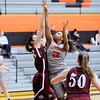 Don Knight | The Herald Bulletin<br /> Anderson's Jardan Ware shoots as she is defended by Rose-Hulman's Abby Bromenschenkel on Wednesday.
