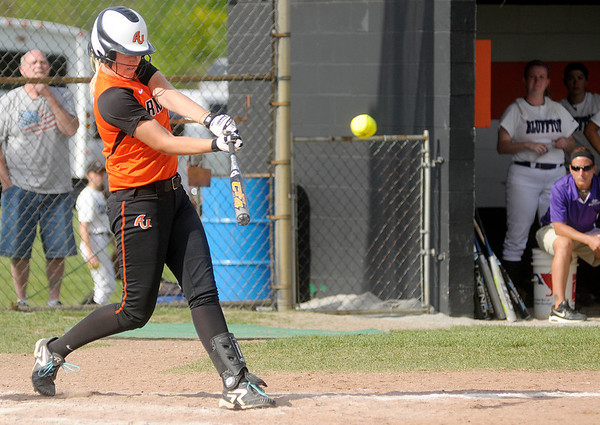 Anderson's Yardley Collett  connects on a two run home run to put the Ravens up 4-2 over Bluffton.