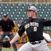 ANNA NORRIS/CHRONICLE<br /> Western Michigan University pitcher Keegan Akin throws a pitch against Kent State in the bottom of the fifth inning in the Mid-American Conference championship game Sunday afternoon at All-Pro Freight Stadium in Avon.
