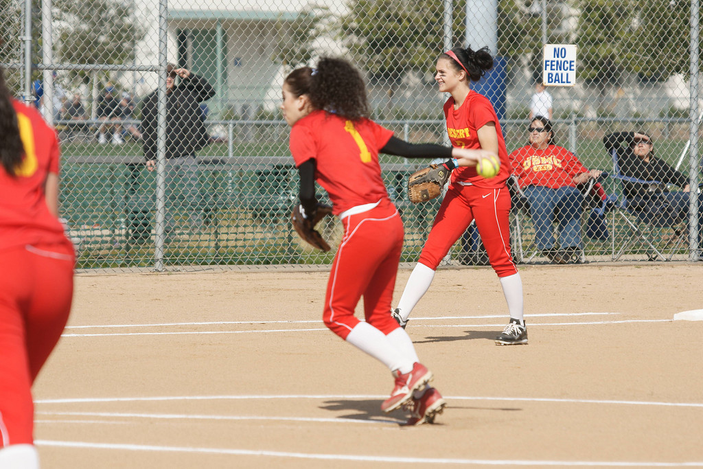 College of the Desert Roadrunners Girls Softball  V Santa Monica 1 29 11
