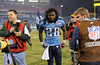 Dec 13, 2009; Nashville, TN, USA; Tennessee Titans running back Chris Johnson (28) leaves the field after a win against the St Louis Rams during the second half at LP Field. The Titans beat the Rams 47-7. Mandatory Credit: Don McPeak-US PRESSWIRE