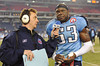 Dec 13, 2009; Nashville, TN, USA; Tennessee Titans linebacker Keith Bulluck (53) talks with the press after a game against the St Louis Rams during the second half at LP Field. The Titans beat the Rams 47-7. Mandatory Credit: Don McPeak-US PRESSWIRE
