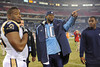 Dec 13, 2009; Nashville, TN, USA; Tennessee Titans quarterback Vince Young (10) leaves the field after a game against the St Louis Rams during the second half at LP Field. The Titans beat the Rams 47-7. Mandatory Credit: Don McPeak-US PRESSWIRE