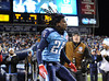 Dec 25, 2009; Nashville, TN, USA; Tennessee Titans running back Chris Johnson (28) is introduced before a game against the San Diego Chargers at LP Field. The Chargers beat the Titans 42-17. Mandatory Credit: Don McPeak-US PRESSWIRE