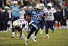 Dec 25, 2009; Nashville, TN, USA; Tennessee Titans running back Chris Johnson (28) runs for a touchdown against the San Diego Chargers during the second half at LP Field. The Chargers beat the Titans 42-17. Mandatory Credit: Don McPeak-US PRESSWIRE