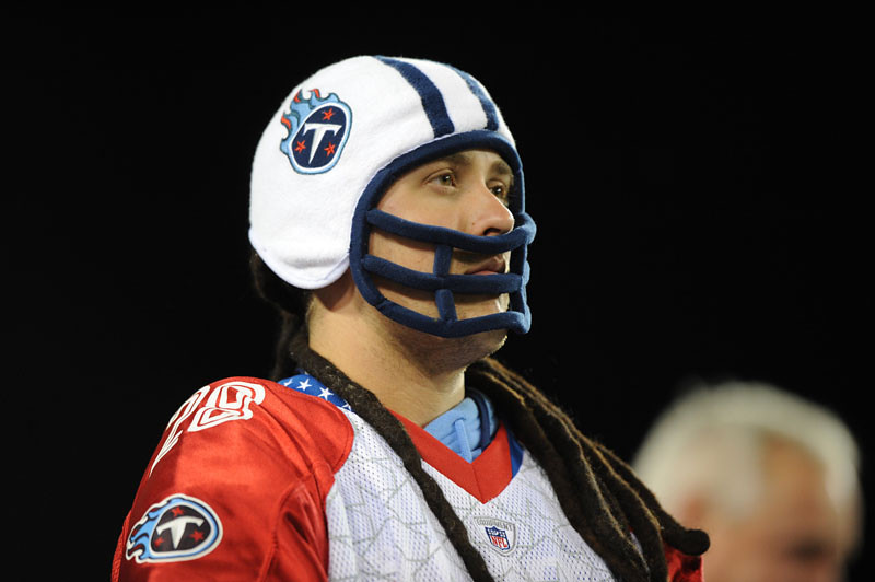 Oct 11, 2009; Nashville, TN, USA; A Tennessee Titans watches a game against the Indianapolis Colts against the during the second half at LP Field. The Colts beat the Titans 31-9. Mandatory Credit: Don McPeak-US PRESSWIRE