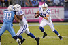 Oct 11, 2009; Nashville, TN, USA; Indianapolis Colts wide receiver Austin Collie (17) runs with the ball against the Tennessee Titans during the second half at LP Field. The Colts beat the Titans 31-9. Mandatory Credit: Don McPeak-US PRESSWIRE