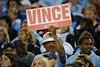 Oct 11, 2009; Nashville, TN, USA; A Tennessee Titans fan holds a sign in support of Titans quarterback Vince Young (10) in a game against the Indianapolis Colts during the second half at LP Field. The Colts beat the Titans 31-9. Mandatory Credit: Don McPeak-US PRESSWIRE