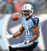Dec 20, 2009; Nashville, TN, USA; Tennessee Titans wide receiver Kenny Britt (18) catches a kick against the Miami Dolphins during the second half at LP Field. The Titans beat the Dolphins 27-24. Mandatory Credit: Don McPeak-US PRESSWIRE