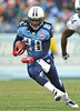 Dec 20, 2009; Nashville, TN, USA; Tennessee Titans running back Chris Johnson (28) runs for yardage against the Miami Dolphins during the first half at LP Field. The Titans beat the Dolphins 27-24. Mandatory Credit: Don McPeak-US PRESSWIRE