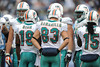 Dec 20, 2009; Nashville, TN, USA; The Miami Dolphins offensive squad huddles against the Tennessee Titans during the second half at LP Field. The Titans beat the Dolphins 27-24. Mandatory Credit: Don McPeak-US PRESSWIRE