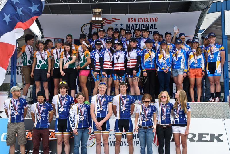 Division I team omnium winners