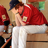 "Colorado Twins pitcher Ryann Charles shows his emotions after having a bad day on the mound on Saturday, July 30, during a baseball game against The Rocky Mountain Hit Club at Scott Carpenter Park in Boulder. Rocky Mountain Hit Club won the game 18-5. For more photos go to  <a href=""http://www.dailycamera.com"">http://www.dailycamera.com</a><br /> Jeremy Papasso/ Camera"