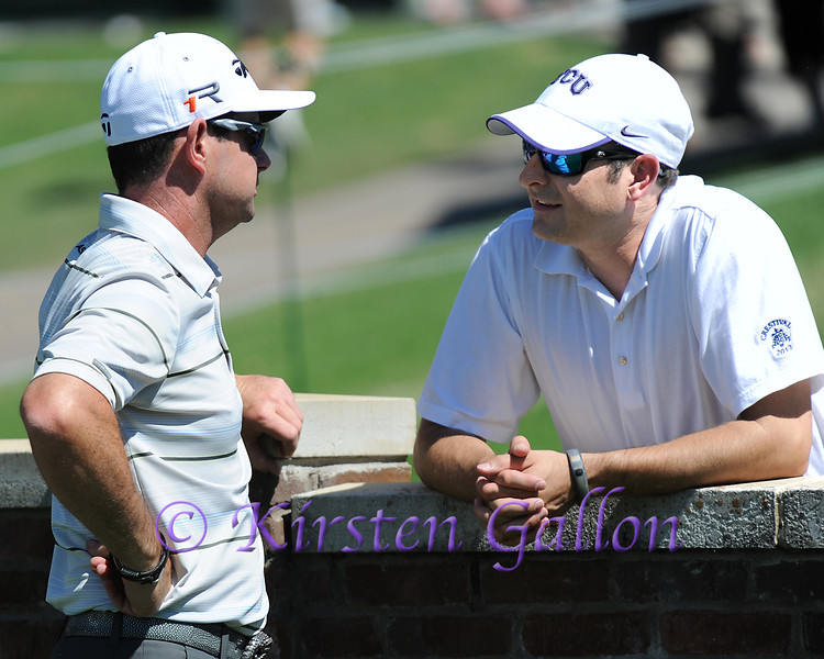 RORY SABBATINI chats up a friend at the Colonial Pro Am.<br /> COLONIAL PRO AM 2013