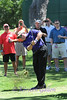COACH GARY PATTERSON<br /> COLONIAL 2013 PRO AM<br /> Coach Patterson tries to get back on the course after hitting just a bit out of bounds.