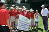 JJ HENRY with the First Tee Foundation Group of kids.<br /> COLONIAL  PRO AM 2013