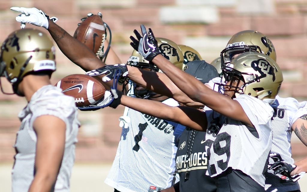 . during the first day of Spring football at the University of Colorado. For more photos, go to www.buffzone.com. Cliff Grassmick  Staff Photographer  February 22, 2017