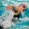 Boulder High School freshman Amanda Richey cruises through the water during the 500 Yard Freestyle race on Saturday, Dec. 18, during the Colorado Coaches Invite at Mountain View High School in Loveland. Richey finished in third place with a time of 5:04.23.<br /> Jeremy Papasso/Camera
