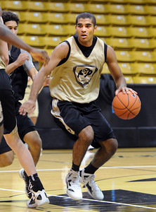 University of Colorado player, Xavier Talton,  during media day practice on October 18, 2012. For more photos and videos of media day, go to www.dailycamera.com. Cliff Grassmick / October 18, 2012