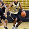 """University of Colorado player, Xavier Talton,  during media day practice on October 18, 2012.<br /> For more photos and videos of media day, go to  <a href=""""http://www.dailycamera.com"""">http://www.dailycamera.com</a>.<br /> Cliff Grassmick / October 18, 2012"""