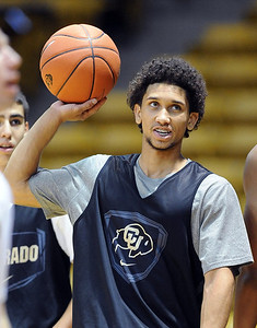 University of Colorado player, Askia Booker,  during media day practice on October 18, 2012. For more photos and videos of media day, go to www.dailycamera.com. Cliff Grassmick / October 18, 2012