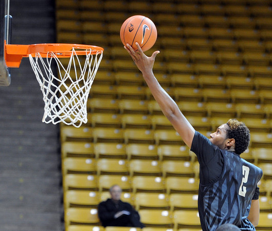 "University of Colorado player, Xavier Johnson,  during media day practice on October 18, 2012.<br /> For more photos and videos of media day, go to  <a href=""http://www.dailycamera.com"">http://www.dailycamera.com</a>.<br /> Cliff Grassmick / October 18, 2012"